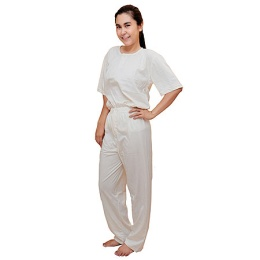 long pant with elastic waist